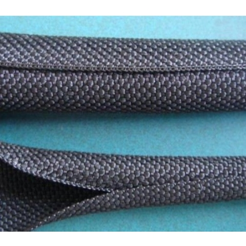 PETV Wraparound braided sleeving for automotive wire assembly 1